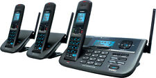 UNIDEN XDECT R 2 LINE CORDLESS PHONE 1.8GHZ 3 HANDSETS SUIT HOME BUSINESS OFFICE