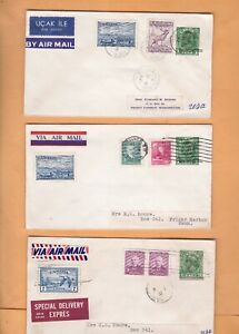 Canada 1952 VANCOUVER BC MIXED STAMPS USED SEE PHOTO  LOT OF 3