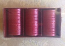 """Pillar Candles Pack of 3 Unscented Red 2x3"""". New"""