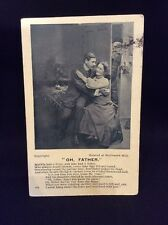 "Vintage ""Oh, Father"" Humour Poem Song Postcard Sent 1906"