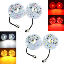 "3"" Amber White Red 1157 LED Turn Signal Tail Brake Light Fit For Harley Touring"
