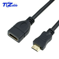 Mini-HDMI to HDMI Cable Gold-Plated Mini Male to HDMI Female Extension Adapter