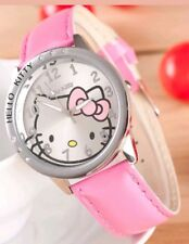 New Pink Hello Kitty Ladies Girls Fashion Crystal Quartz Wrist Watch