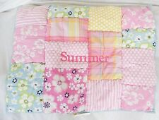 "Pottery Barn Kids Pink Patchwork Quilted Standard Pillow Sham NWOT ""Summer"""