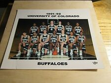 "1991-92 CU BUFFS MEN'S BASKETBALL TEAM PHOTO  8""X10"" FUJI"