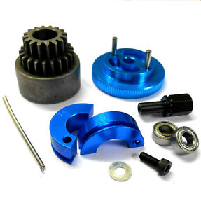 1/10 Scale RC Car Alloy 2 Speed Pin Shoe 16-21T Clutch Kit Flywheel Blue Bearing