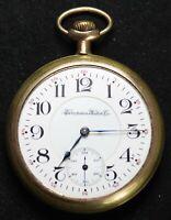 1908 Hampden John C Dueber 16s 21j Pocket Watch - RAILROAD GRADE - Parts/Repair