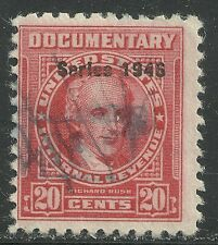 U.S. Revenue Documentary stamp scott r443 - 20 cent issue of 1946  #2