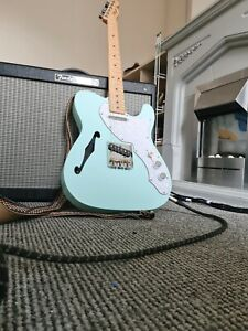 Fender Telecaster Thinline MIM Tele Nitro finish sea foam green