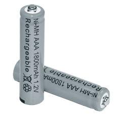 2 pcs AAA 3A 1.2V 1800mah rechargeable battery grey