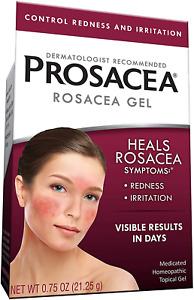 Prosacea Medicated Rosacea Gel – Controls Rosacea Symptoms of Redness, Pimples