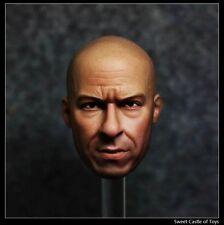 1/6 Custom Vin Diesel Fast Furious Dominic Toretto Head For Hot Toys Phicen Body