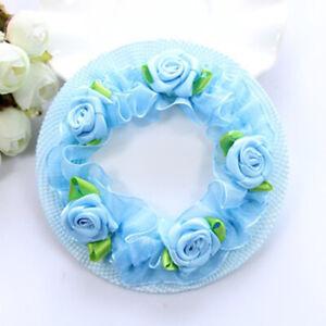 1PC Adjustable Elastic Flower Cute Bun Hair Nets Dancersr Girls Kids 5 Colors