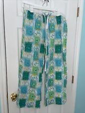 Victoria's Secret Pajama/Lounge Pants Large Drawstring Crop Lightweight Passport