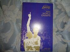 1980-81 LOS ANGELES LAKERS MEDIA GUIDE Yearbook 79-80 NBA CHAMPS 1981 LA Book AD