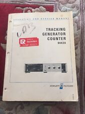 Hewlett-Packard HP Tracking Generator Counter 8443A Operating Service Manual