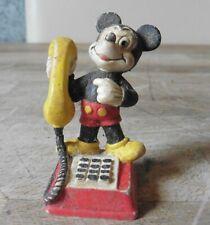 Disney- Micky Maus mit Hörer auf Telefon, Bullyland 1981 / T8