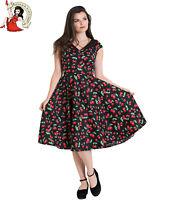 Hell Bunny Cherry Pop Dress 50s Dress Rockabilly Vintage 1950s Style