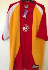 Nba Men Hardwood Classics Atlanta Hawks Warm Up Basketball Collar Shirt Nwt 3 Xl