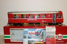 VERY RARE LGB 31900 RhB Rhatische Bahn Control Car w/ LIGHTS & FIGURINES