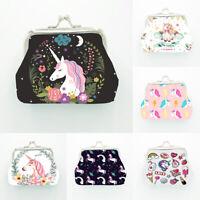 Cartoon Women Girl Unicorn Purse Wallet Coin Case Bag Handbag Key Card Holder