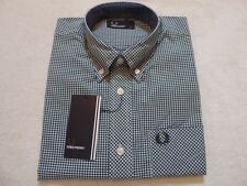 Fred Perry Checked Short Sleeved Shirt Size S Eu90 Style M6378