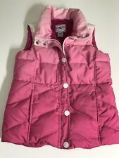Roper puffer Vest Womens Xl (14) Zip Front Pink Down Filled