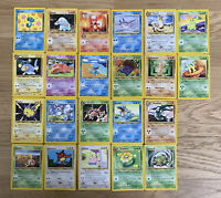 Lot 22 Different Pokemon Cards - Neo Genesis - Non-Holo - HP to NM