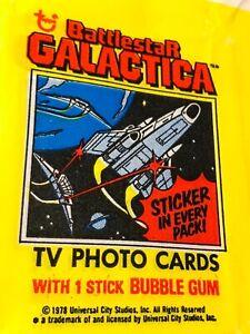 BATTLESTAR GALACTICA TRADING CARDS WRAPPER (1978)