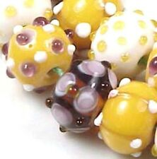 "LAMPWORK Handmade Beads ""Royal Bayou"" Rondelle (8pc)"