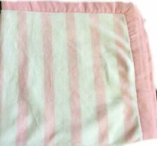 NWT Gymboree Satin Edge Pink White Stripe Baby Blanket NEW