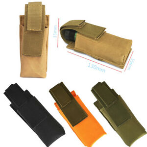 Tactical Molle Flashlight Carrier Magazine Pouch Knife Holster Bag Outdoor Camp