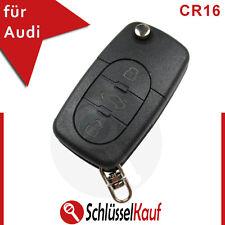 Audi 3 Tasten CR16 Klappschlüssel A3 A4 A5 Gehäuse Auto Fernbedienung Ersatz Neu