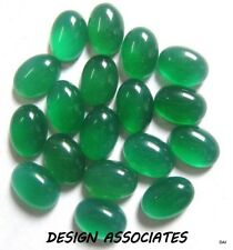 25x18 MM OVAL CUT NATURAL GREEN ONYX  ALL NATURAL AAA CAB