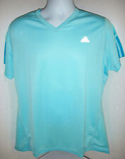 adidas women's RSP S/S Summer Tee W Top V-neck for Gym Workout, Running XLarge