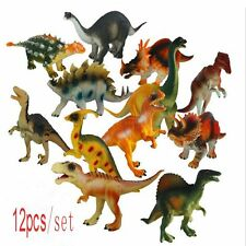 12pcs Kids Gift Mini Dinosaur Play Model Toys Jurassic Plastic