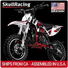 SkullRacing Gas Powered Kids Mini Dirt Bike Motorcycle 50Rr (Red)