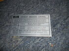 1970 FORD MUSTANG / MACH 1 428CJ ENGINE EMISSIONS DECAL