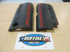 Fuel Rail Cover 99-04 Chevrolet Corvette LS1 Black Both 12561502 12561503