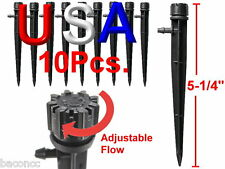 Orbit 10pk Micro Bubbler Drip Irrigation Adjustable Emitters Stake Water Dripper