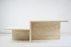 ferm Living Distinct Couchtisch Tisch Beistelltisch Sofatisch Travertin-Stein