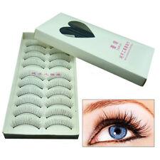 10 Pairs Fashion Natural Eyelashes Eye Makeup Handmade Long False Lashes Sparse