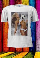 Hottest Sexy Football Girl Naked T-shirt Vest Tank Top Men Women Unisex 556