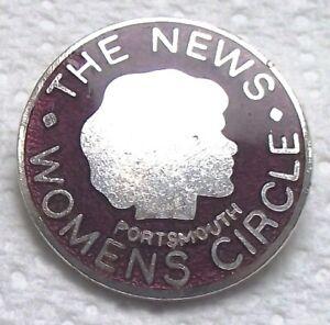 The News Women's Circle Portsmouth vintage  enamel badge