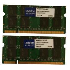 8 GB ( 2 x 4 GB ) AddOn AA800D2S6/4G DDR2-800MHz 200-pin SODIMM Laptop Memory