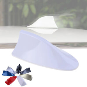 1x White Car Roof Shark Fin Body Aerial Dummy Antenna Decorative Cover Trim