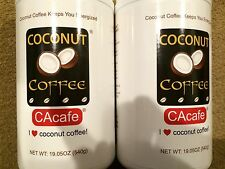 2 Packs, 19.05 oz/Pack Coconut Coffee by CACAFE, Made in USA, Free Shipping