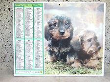 Calendrier almanach des P.T.T. 1984, photos: 2 chiots et un chaton