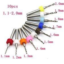 10pcs PCB Print Circuit Board Carbide Micro Drill Bits Dremel Rotary 1.1-2.0MM