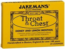 Jakemans Throat - Chest Lozenges Honey and Lemon Menthol 24 Each